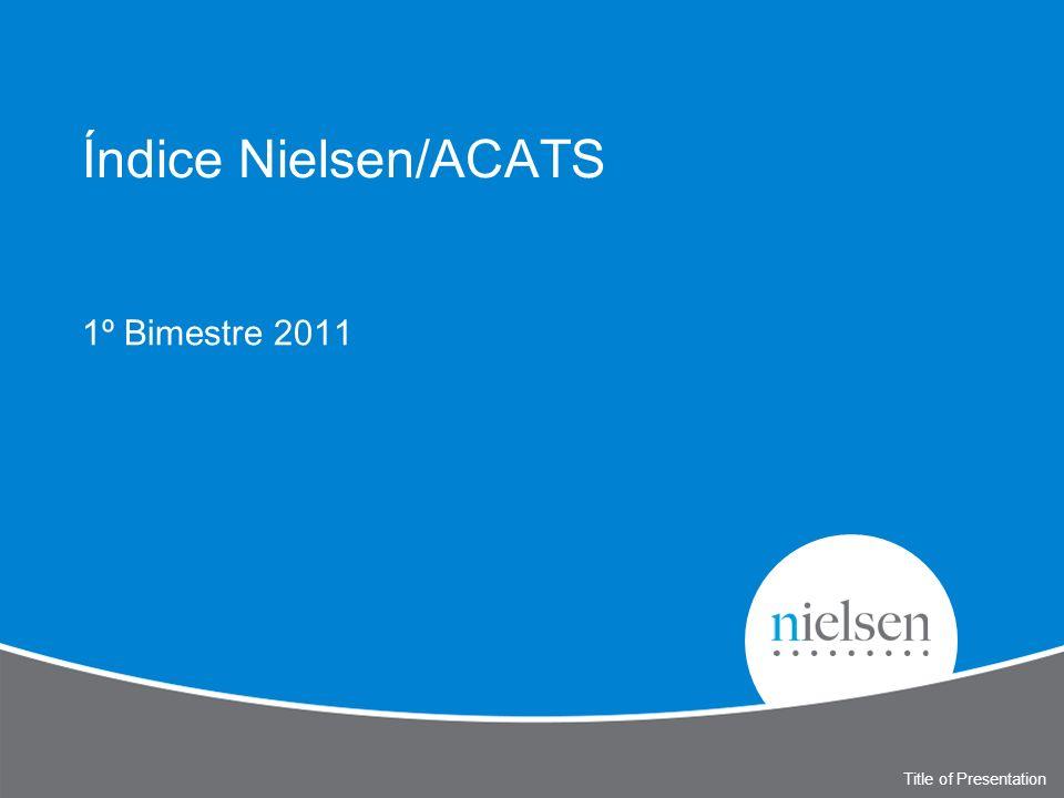 Índice Nielsen/ACATS 1º Bimestre 2011 Title of Presentation