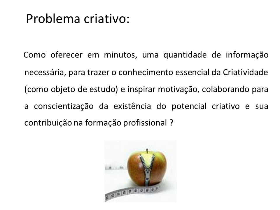 Problema criativo: