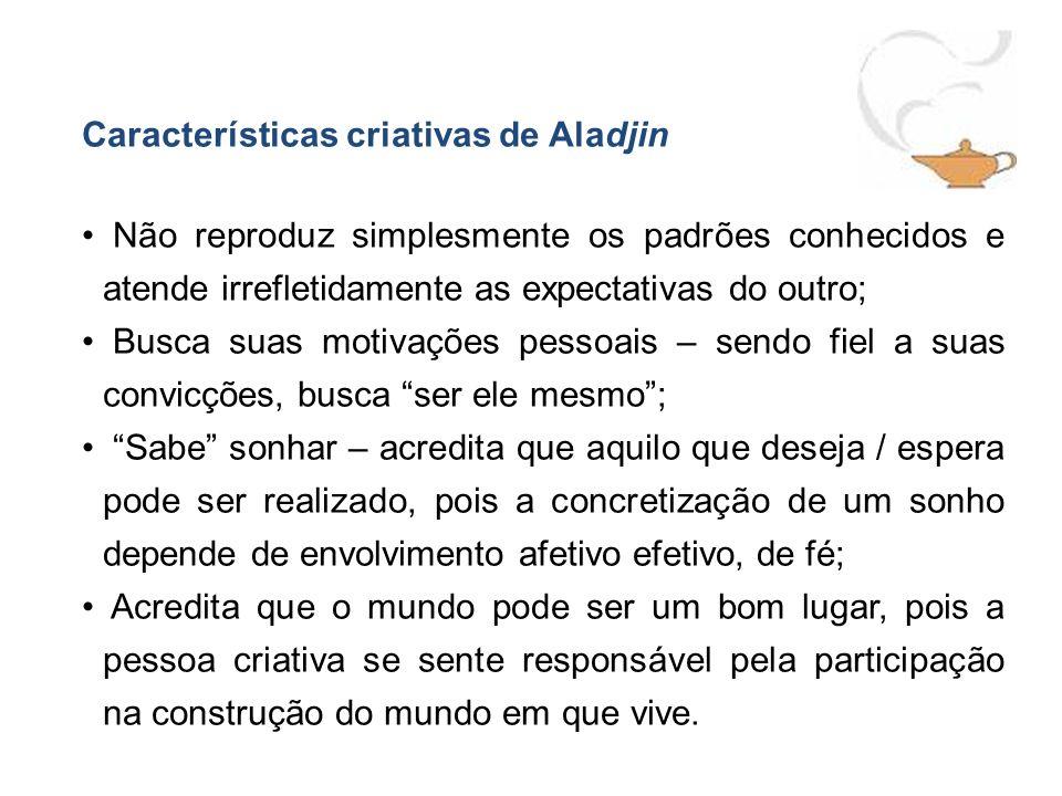 Características criativas de Aladjin