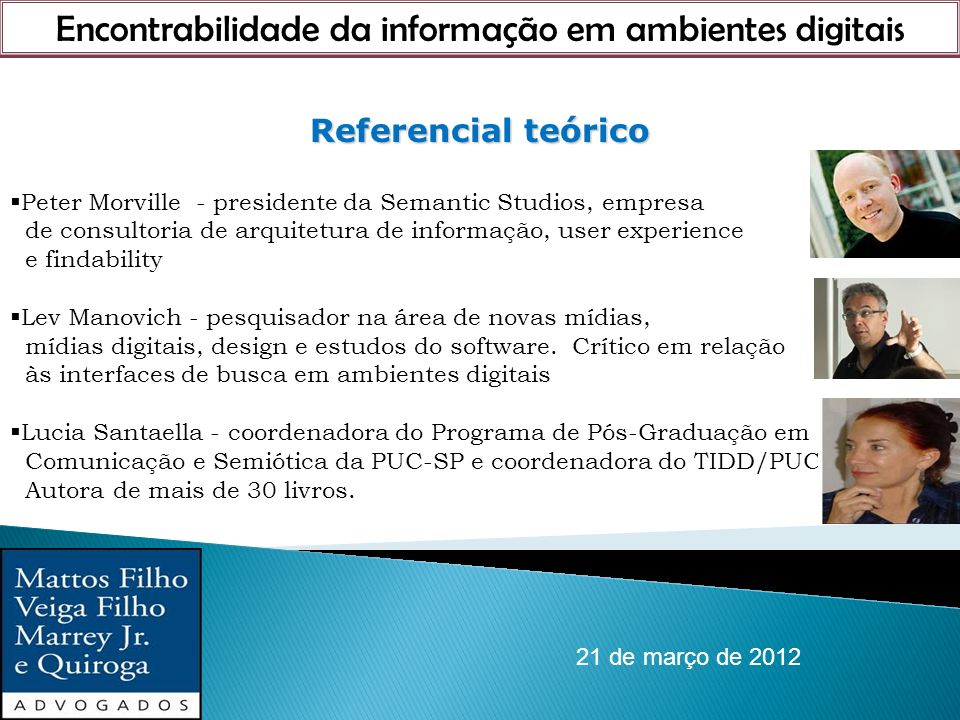 Encontrabilidade da informação em ambientes digitais