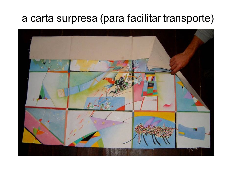 a carta surpresa (para facilitar transporte)