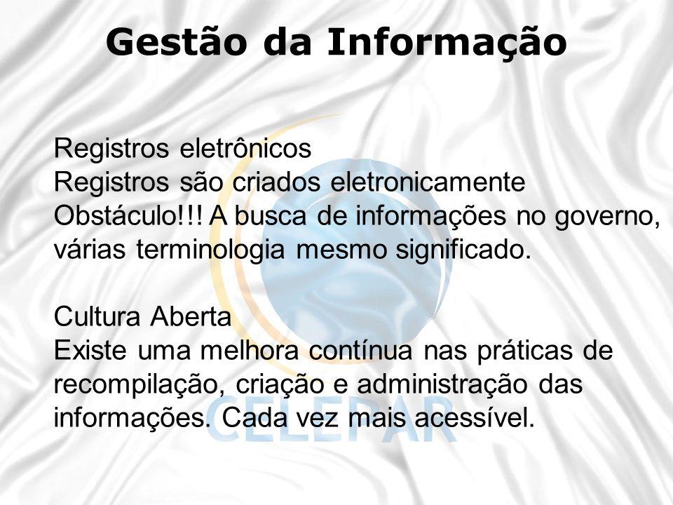 Gestão da Informação Registros eletrônicos