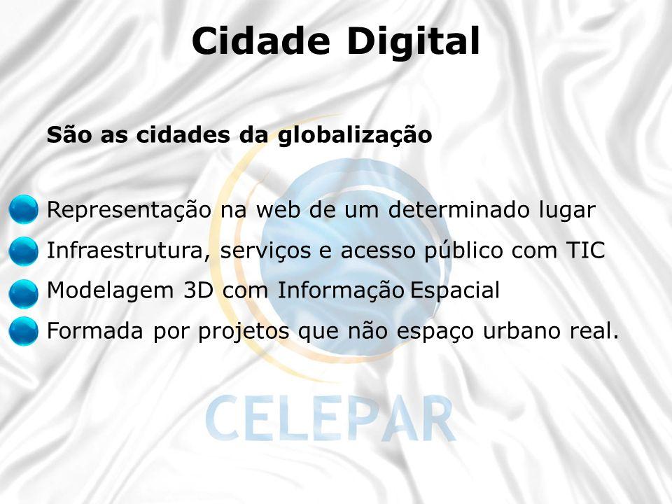 Cidade Digital São as cidades da globalização