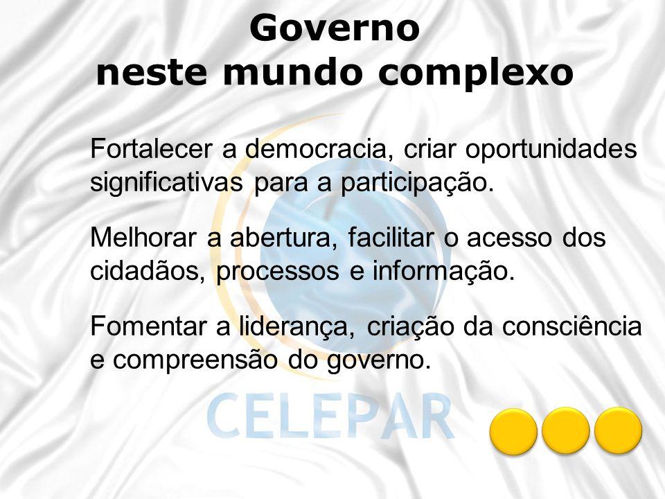 Governo neste mundo complexo