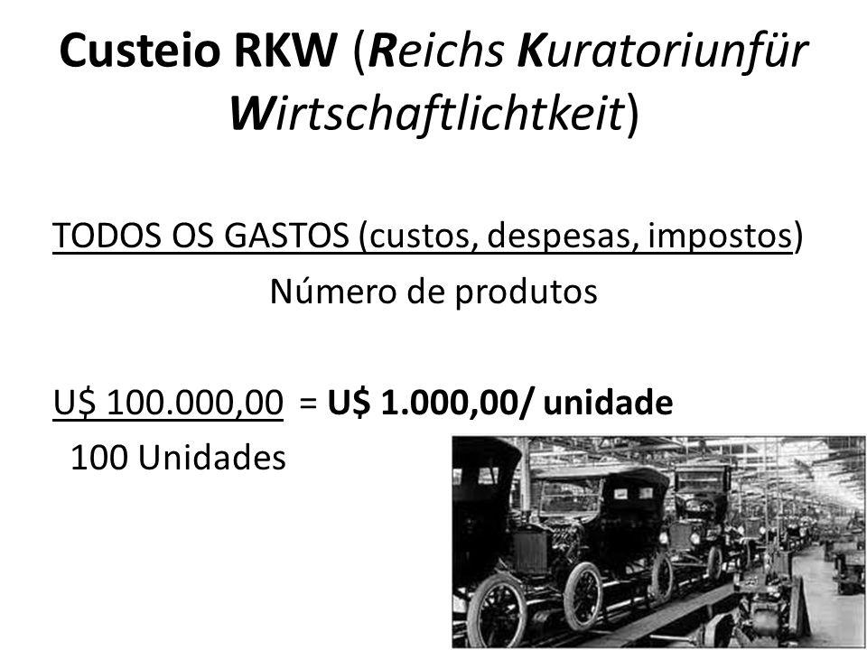 Custeio RKW (Reichs Kuratoriunfür Wirtschaftlichtkeit)