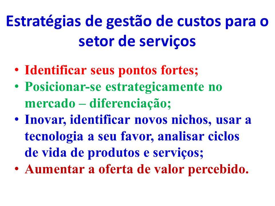 Estratégias de gestão de custos para o setor de serviços