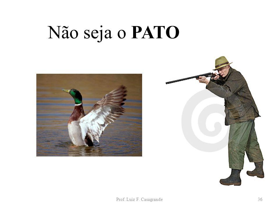 Não seja o PATO Prof. Luiz F. Casagrande
