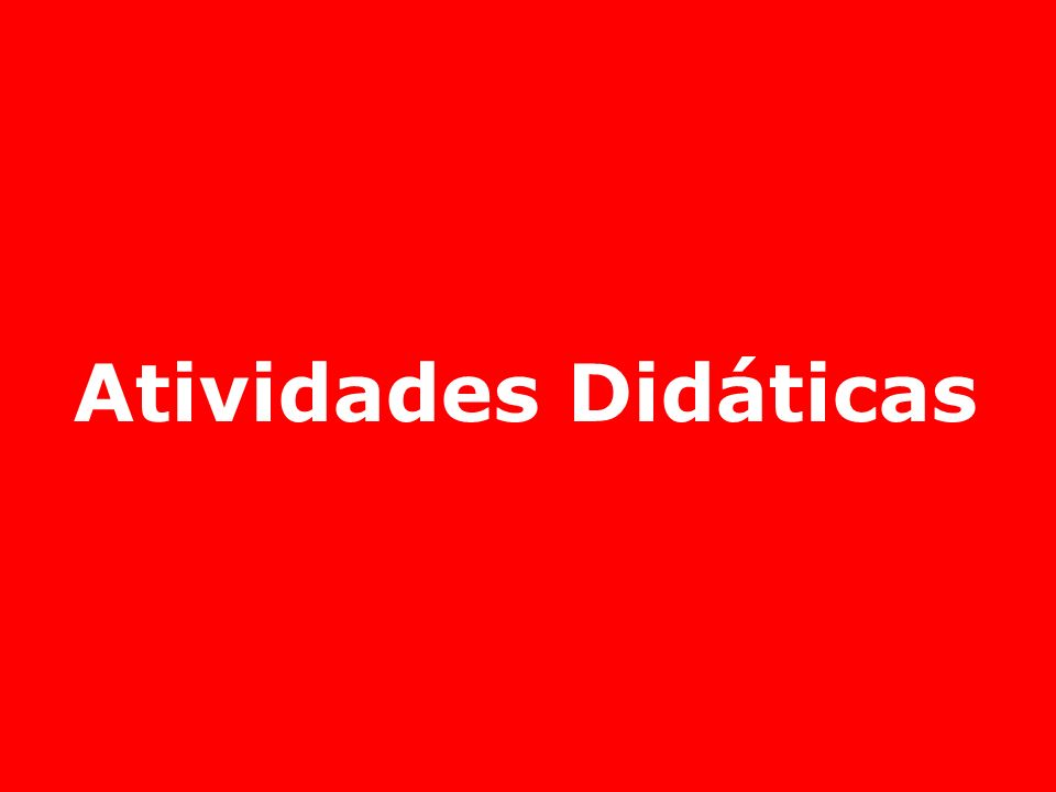 Atividades Didáticas