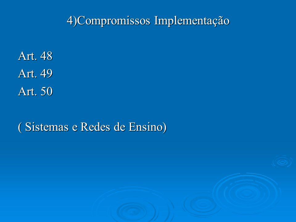 4)Compromissos Implementação
