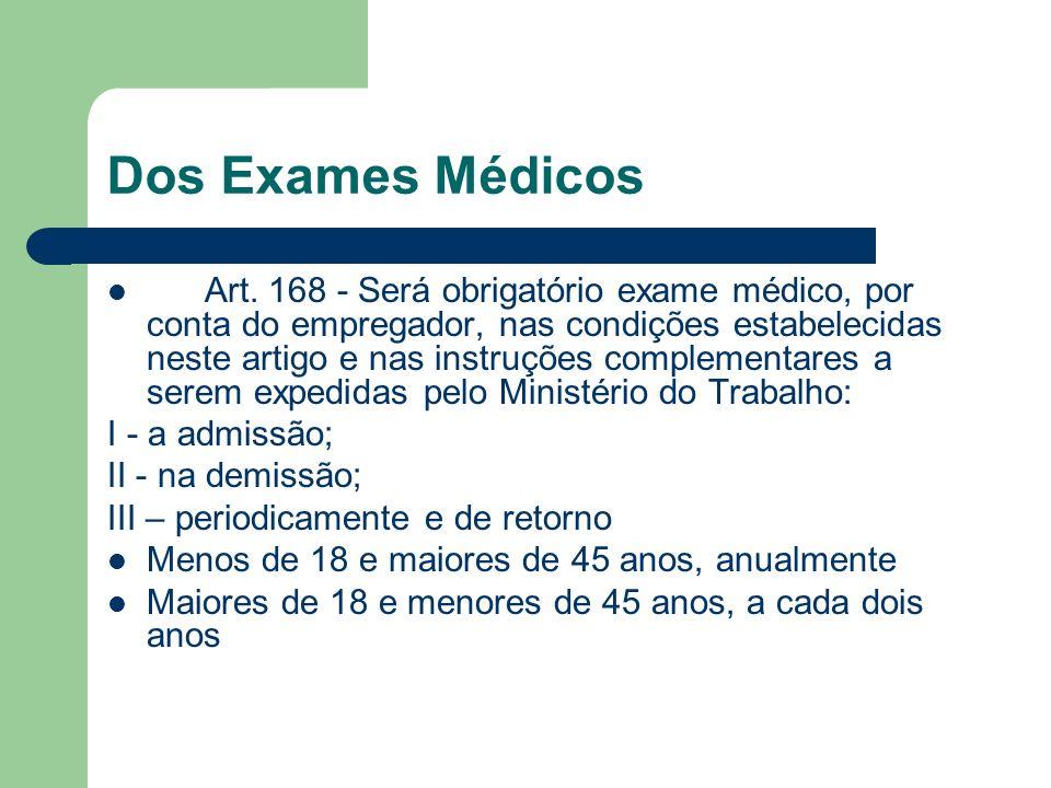 Dos Exames Médicos