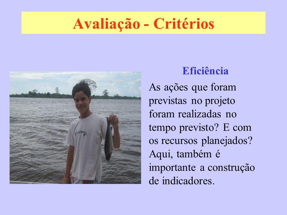 Avaliação - Critérios Eficiência
