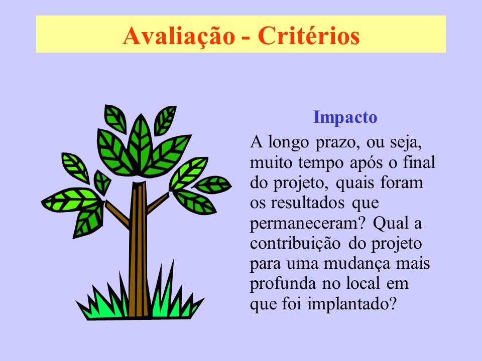 Avaliação - Critérios Impacto