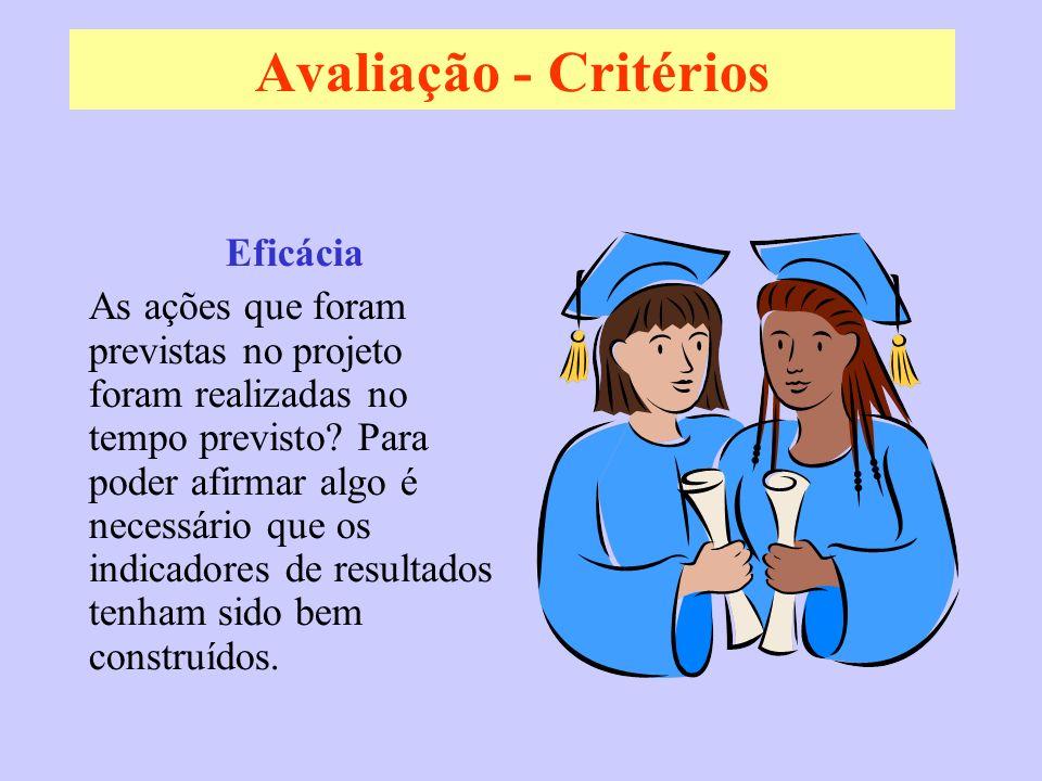 Avaliação - Critérios Eficácia