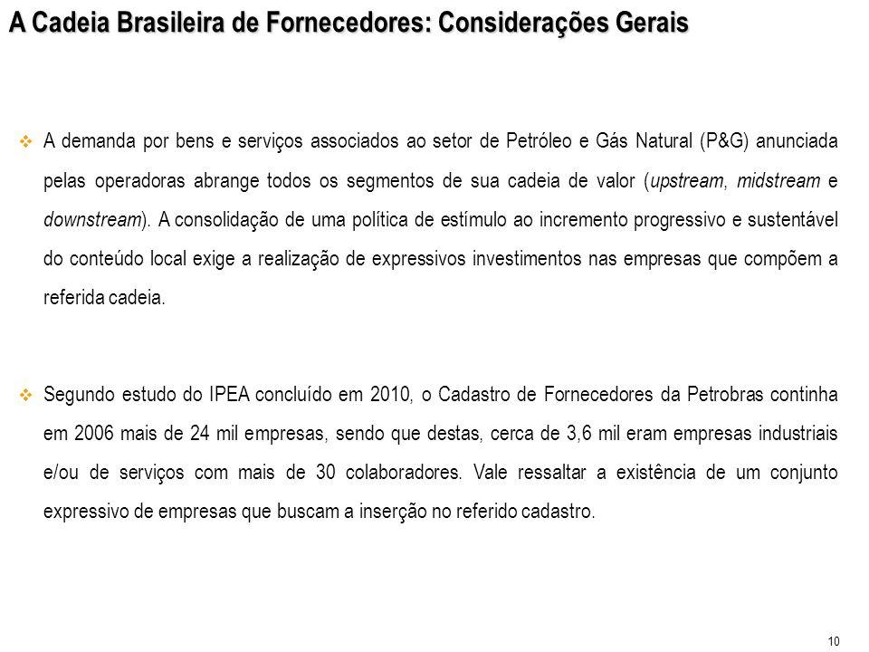 A Cadeia Brasileira de Fornecedores: Considerações Gerais