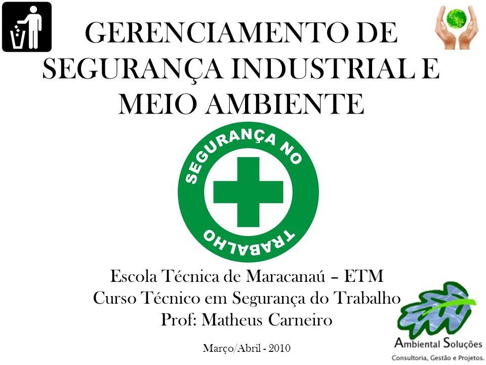 GERENCIAMENTO DE SEGURANÇA INDUSTRIAL E MEIO AMBIENTE