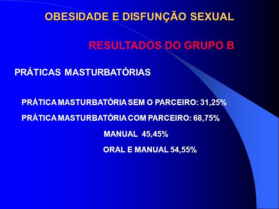 OBESIDADE E DISFUNÇÃO SEXUAL
