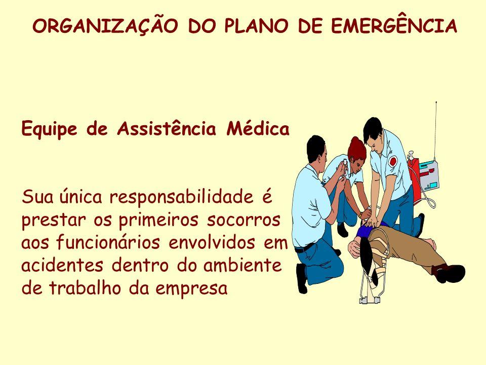 ORGANIZAÇÃO DO PLANO DE EMERGÊNCIA