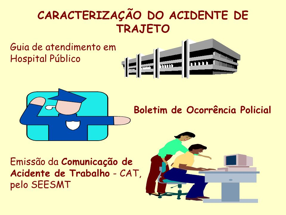 CARACTERIZAÇÃO DO ACIDENTE DE TRAJETO