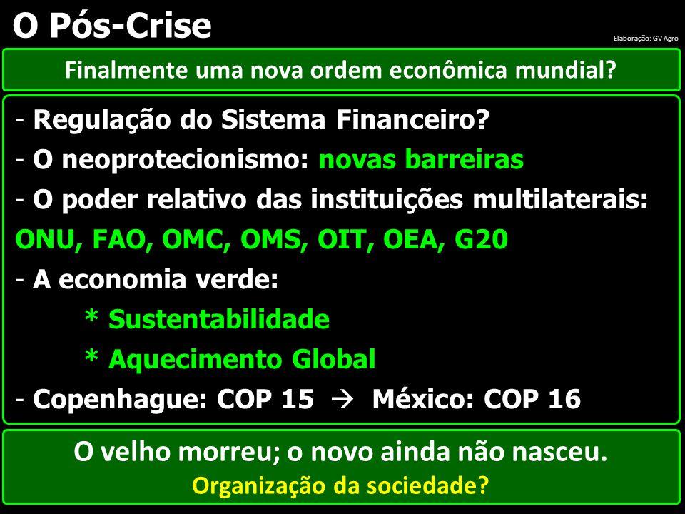 O Pós-Crise O velho morreu; o novo ainda não nasceu.