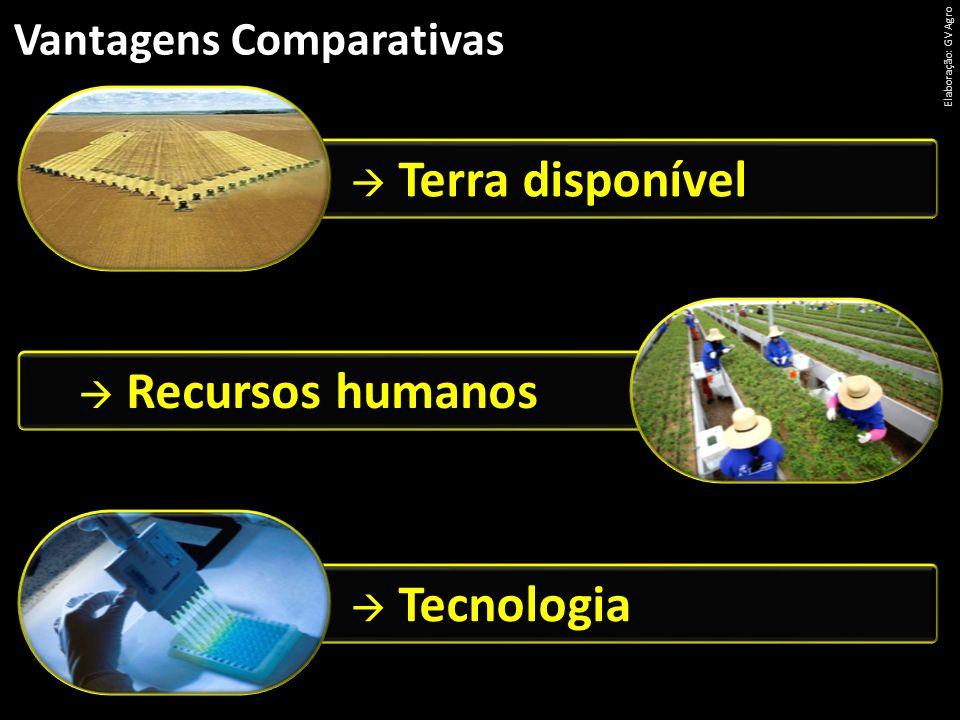 Terra disponível  Recursos humanos  Tecnologia