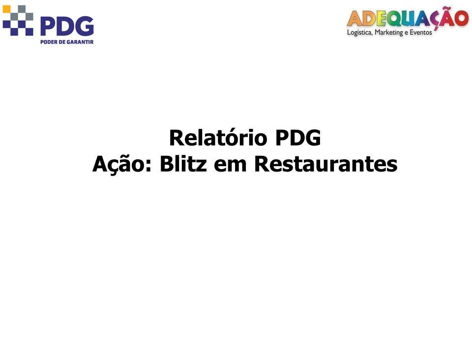 Ação: Blitz em Restaurantes