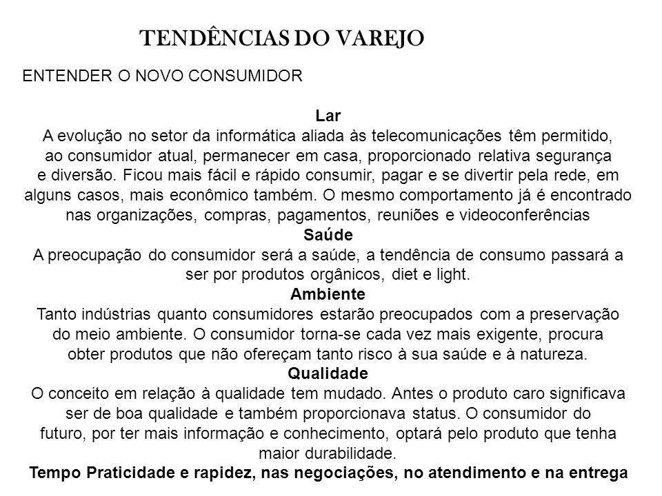 TENDÊNCIAS DO VAREJO ENTENDER O NOVO CONSUMIDOR Lar