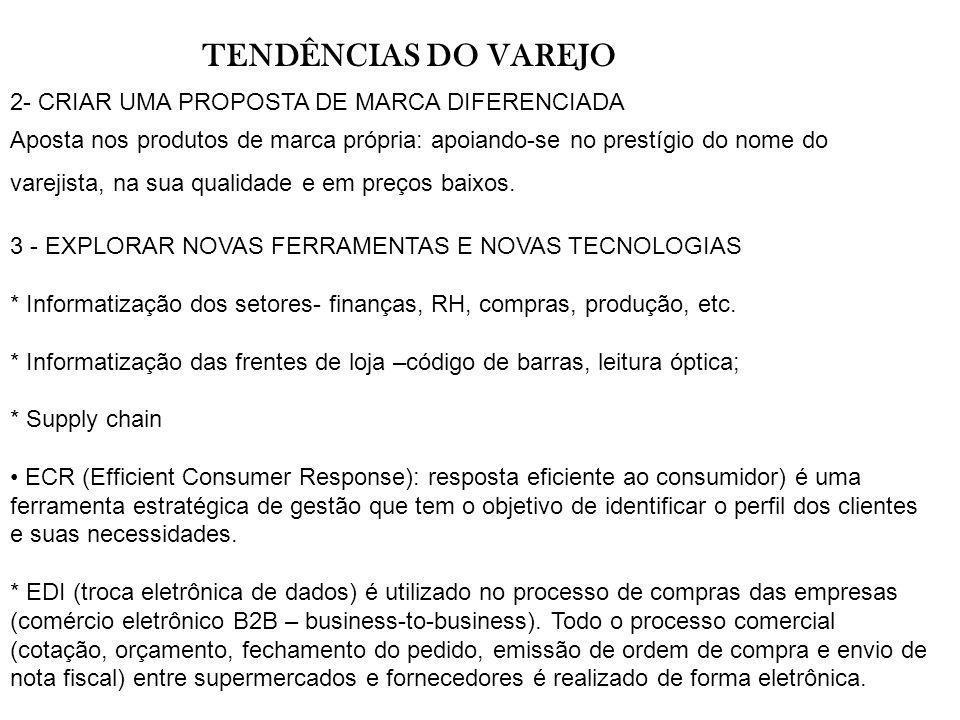 TENDÊNCIAS DO VAREJO 2- CRIAR UMA PROPOSTA DE MARCA DIFERENCIADA