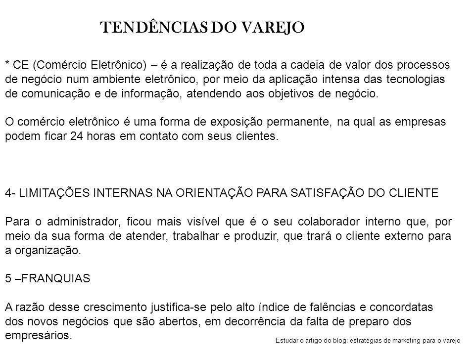TENDÊNCIAS DO VAREJO