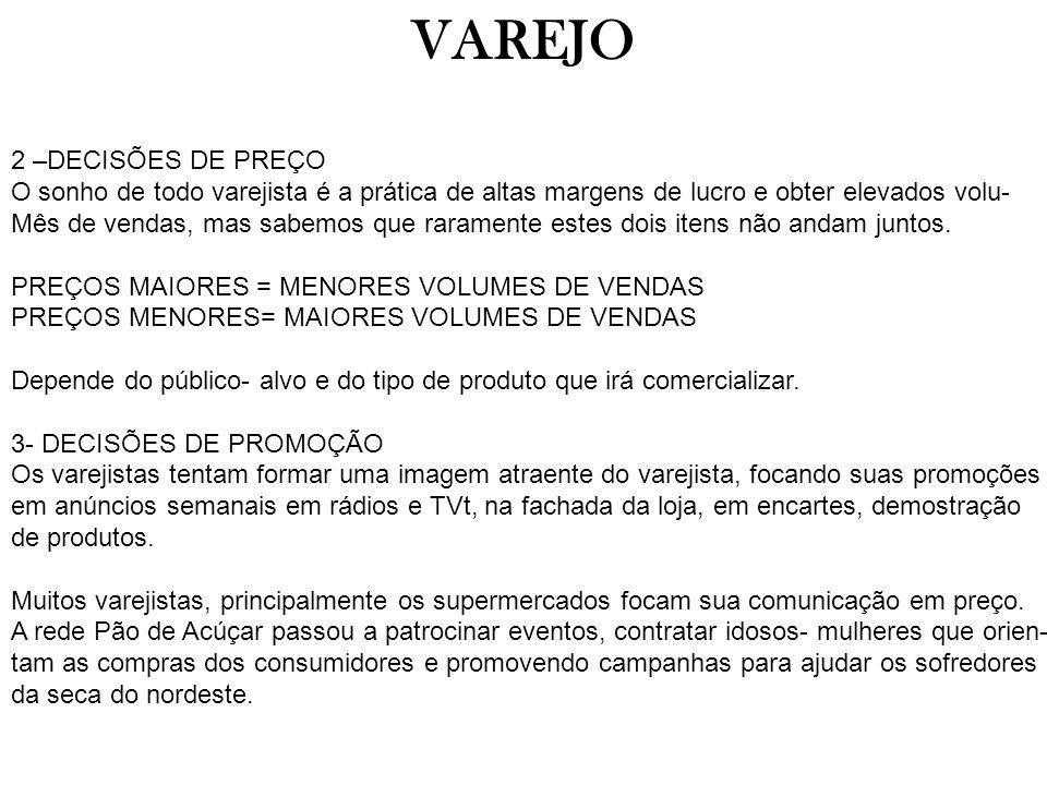 VAREJO 2 –DECISÕES DE PREÇO