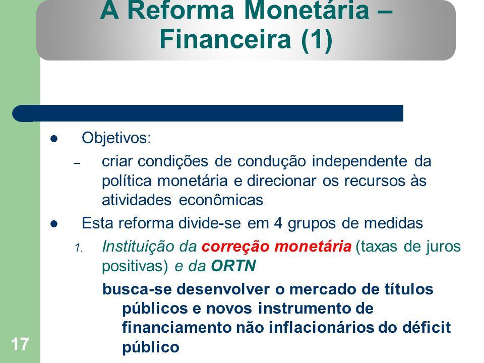 A Reforma Monetária – Financeira (1)