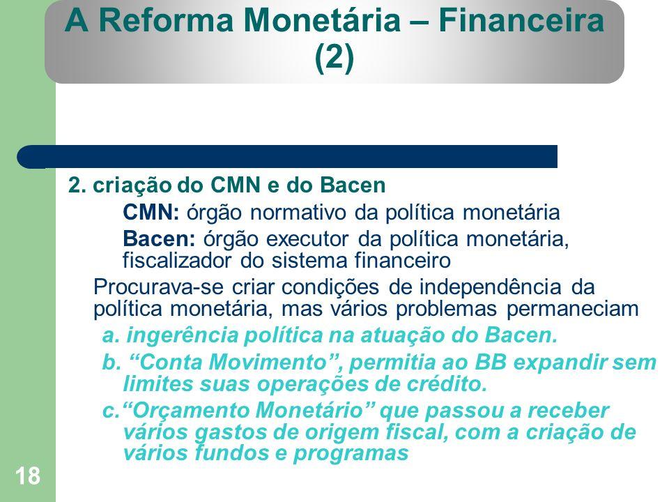 A Reforma Monetária – Financeira (2)