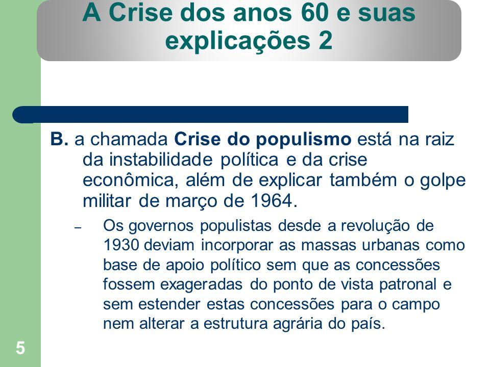A Crise dos anos 60 e suas explicações 2