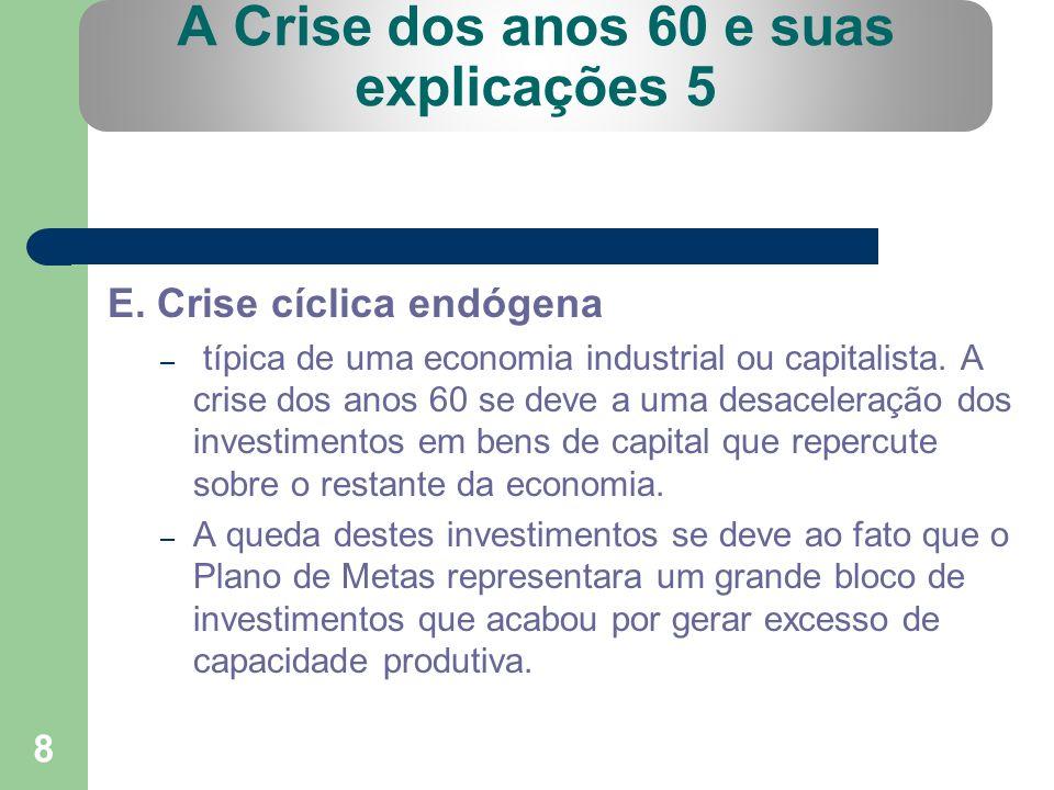 A Crise dos anos 60 e suas explicações 5