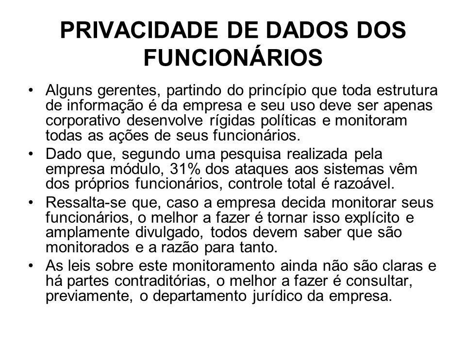 PRIVACIDADE DE DADOS DOS FUNCIONÁRIOS