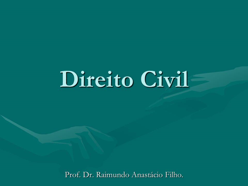 Prof. Dr. Raimundo Anastácio Filho.