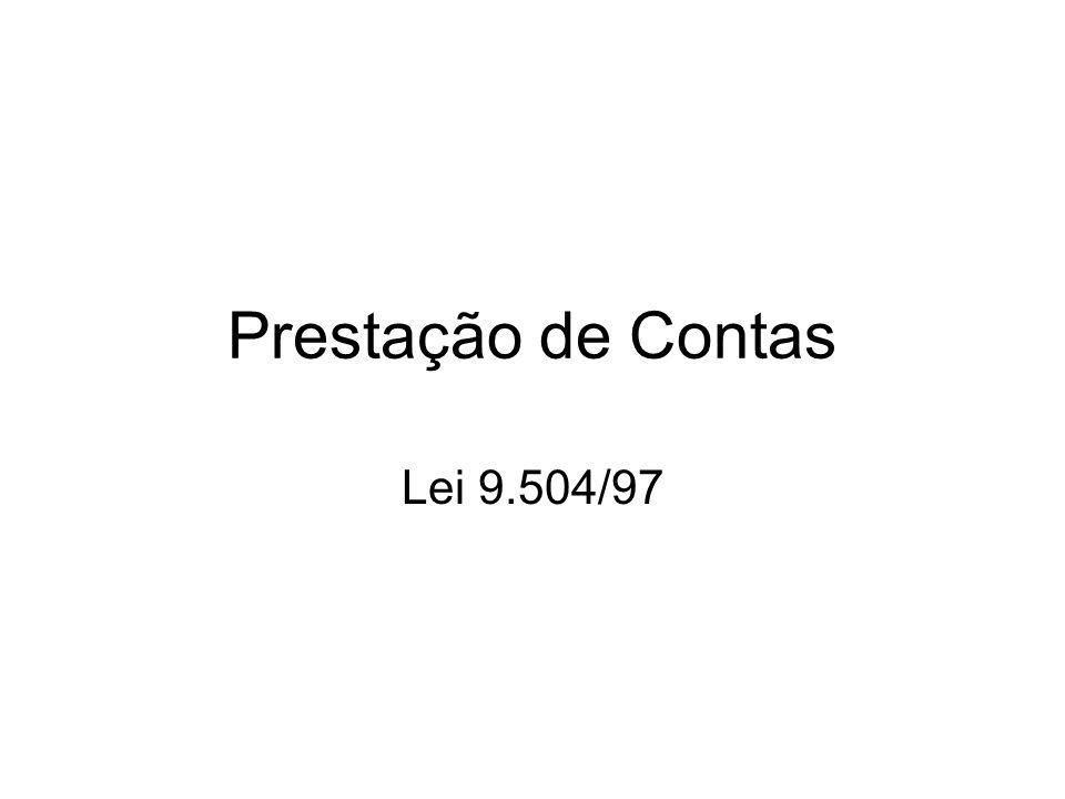 Prestação de Contas Lei 9.504/97