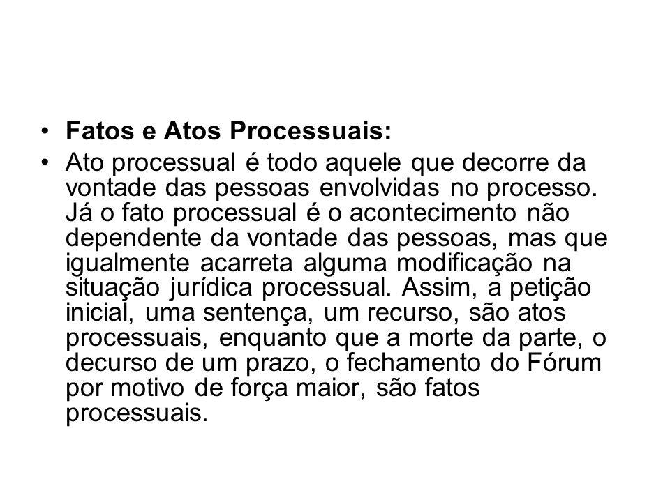 Fatos e Atos Processuais: