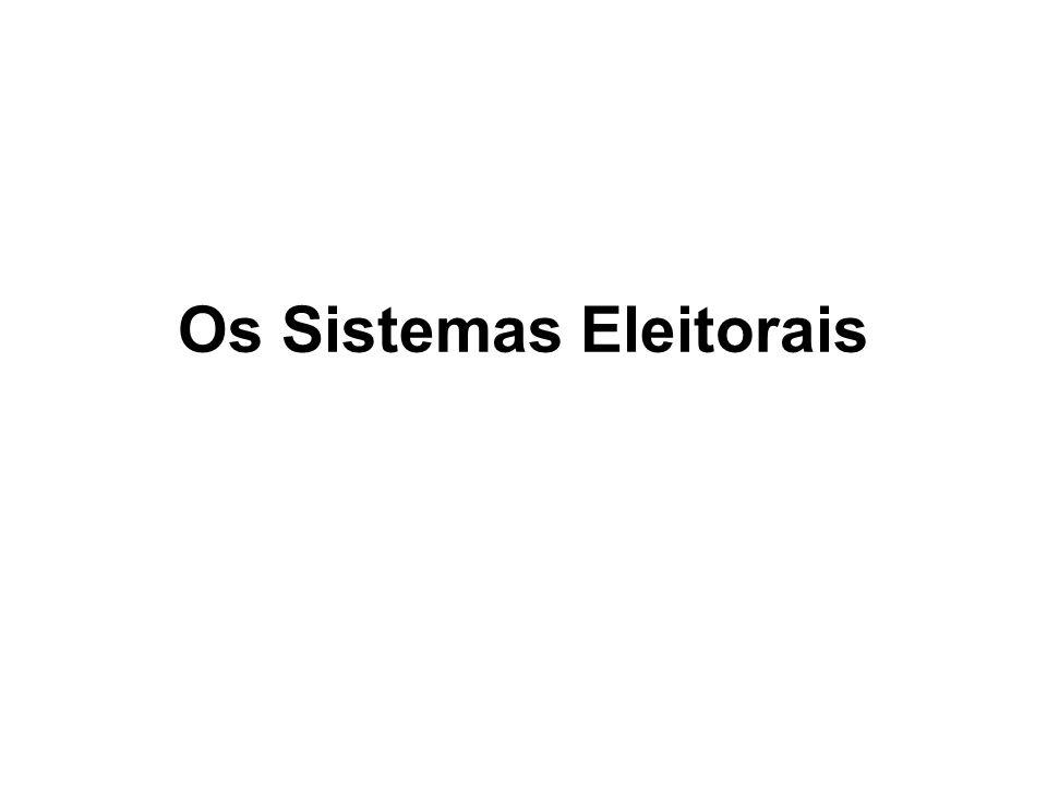 Os Sistemas Eleitorais