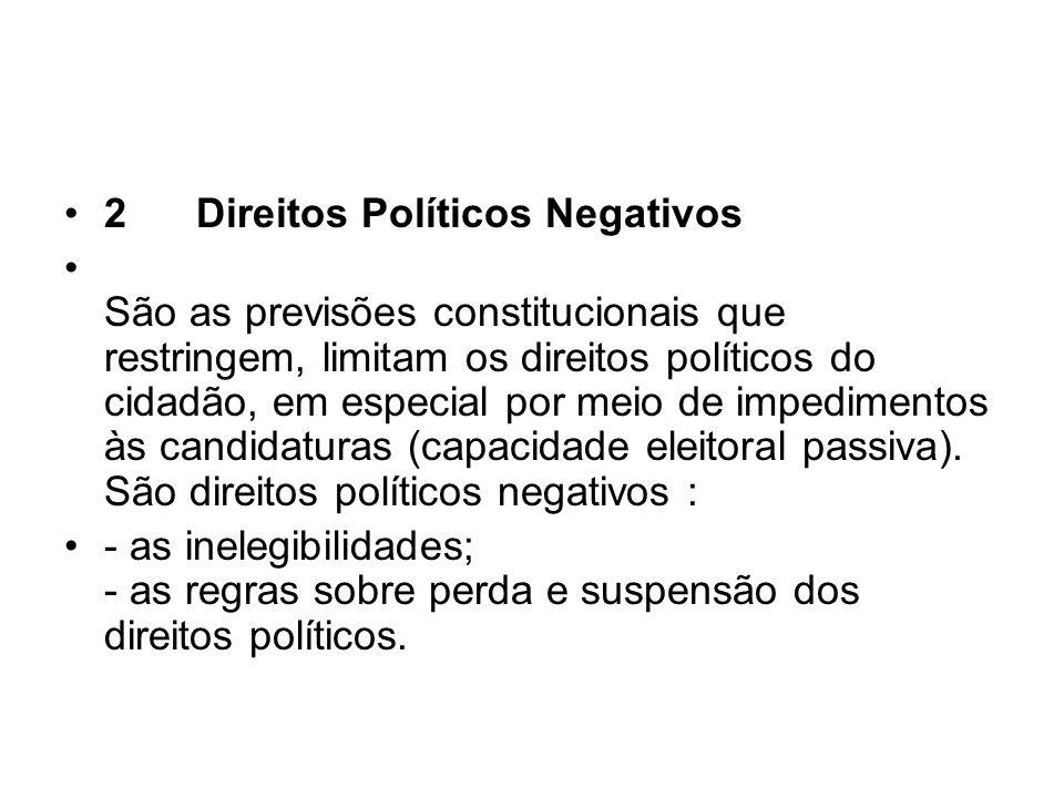 2 Direitos Políticos Negativos