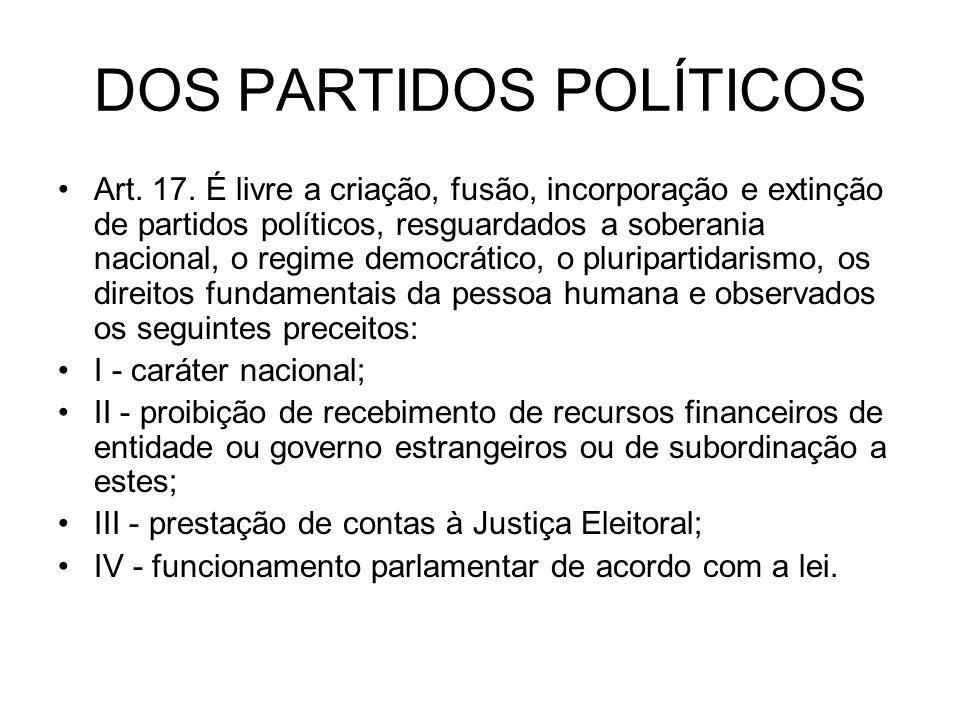 DOS PARTIDOS POLÍTICOS