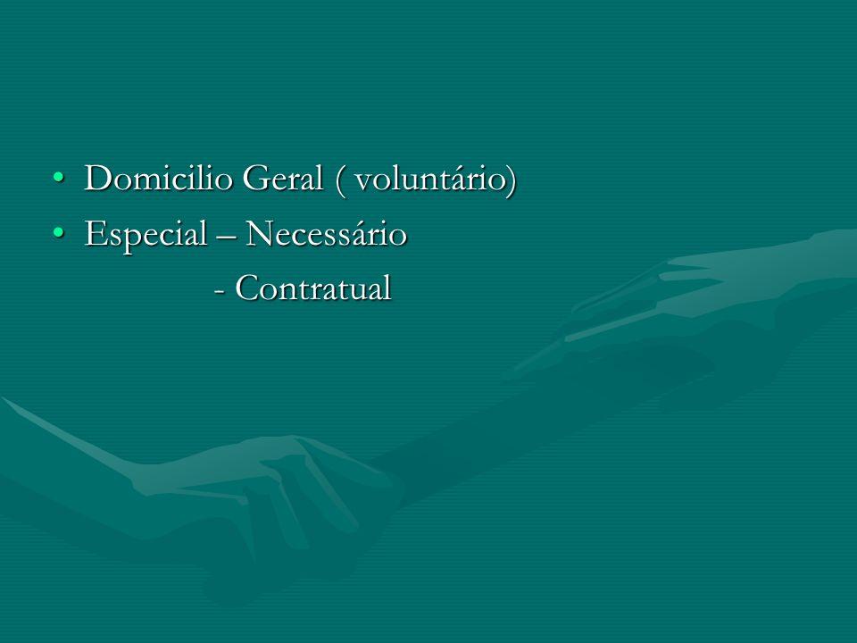 Domicilio Geral ( voluntário)