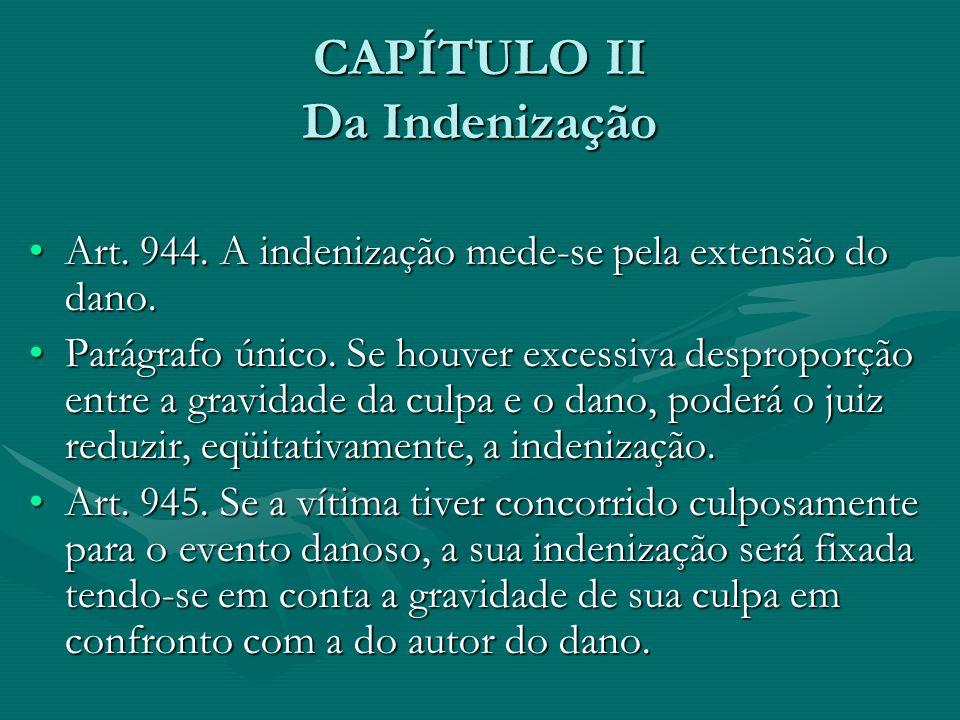 CAPÍTULO II Da Indenização
