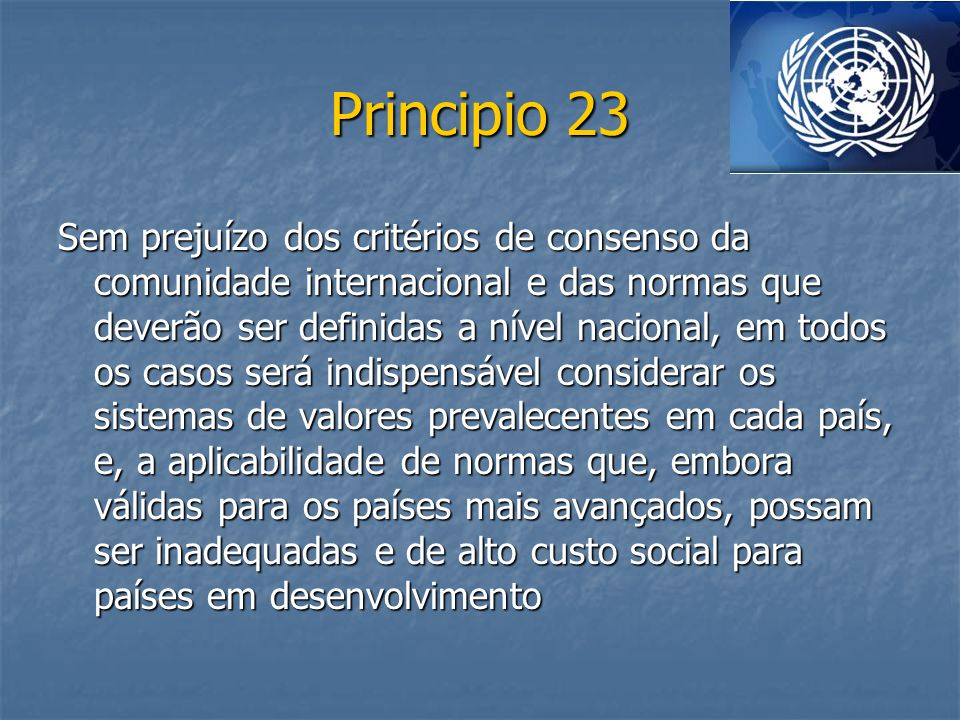 Principio 23