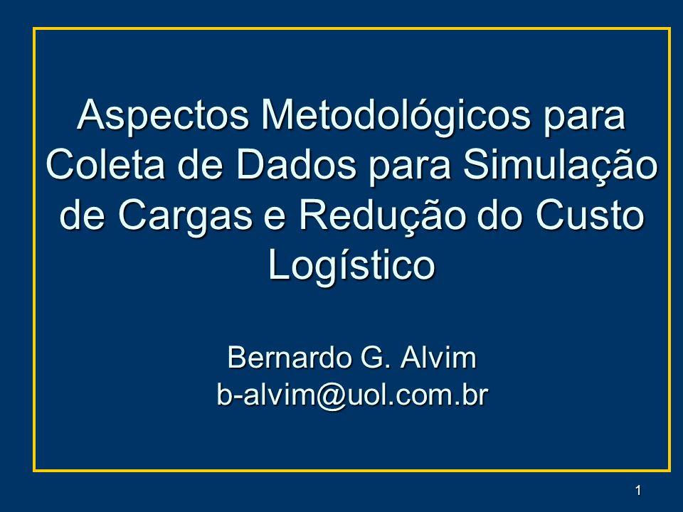 Aspectos Metodológicos para Coleta de Dados para Simulação de Cargas e Redução do Custo Logístico Bernardo G.