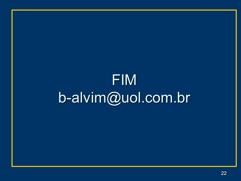 FIM b-alvim@uol.com.br