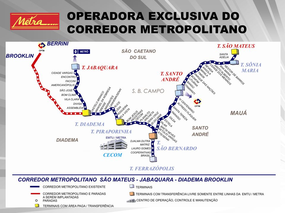 OPERADORA EXCLUSIVA DO CORREDOR METROPOLITANO