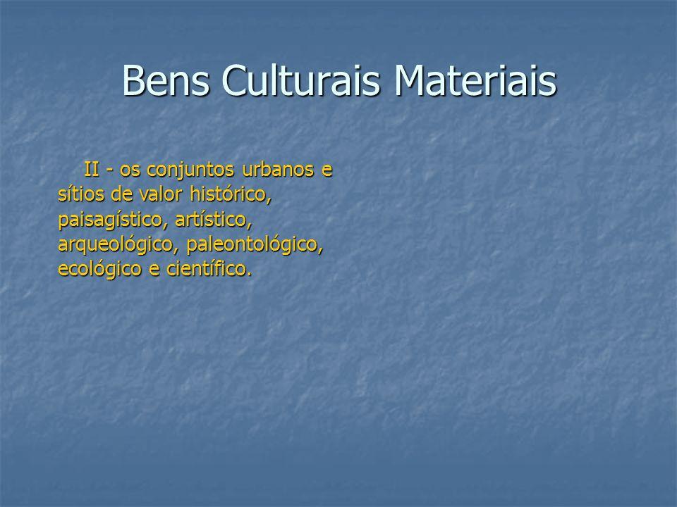 Bens Culturais Materiais