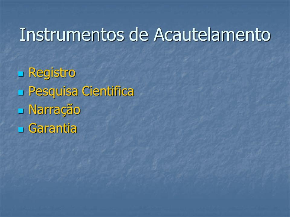 Instrumentos de Acautelamento