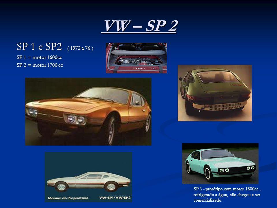 VW – SP 2 SP 1 e SP2 ( 1972 a 76 ) SP 1 = motor 1600cc