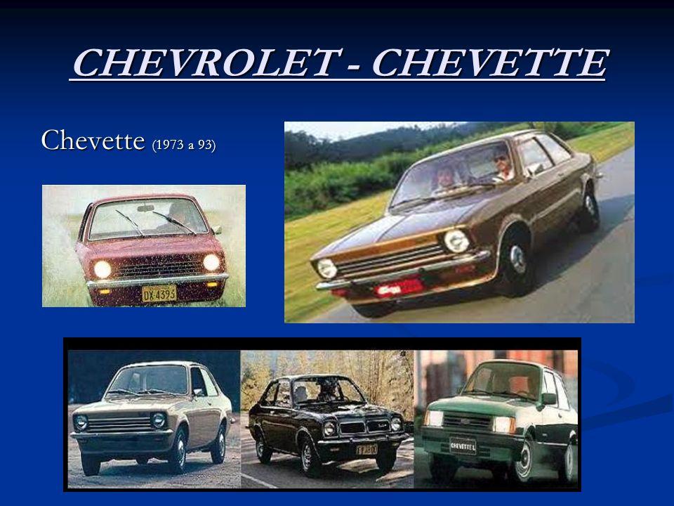 CHEVROLET - CHEVETTE Chevette (1973 a 93)
